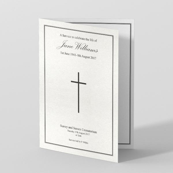 Picture of Classic Double Border - Order of Service (black and white)